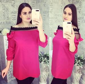 Блуза с кружевом Ч1067