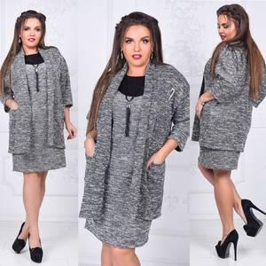 Платье Двойка короткое нарядное Ш2693