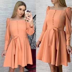Платье короткое однотонное Ю8621