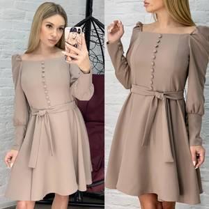 Платье короткое однотонное Ю8629