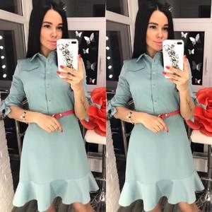 Платье короткое однотонное Я1654