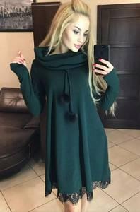Платье короткое с длинным рукавом А23088