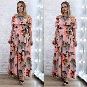 Платье длинное летнее А34432
