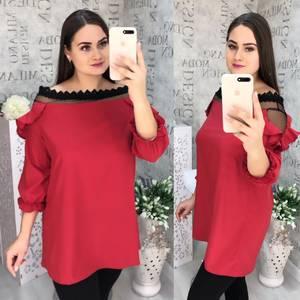 Блуза с кружевом Ч1068