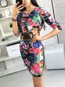Платье короткое облегающее Я6425