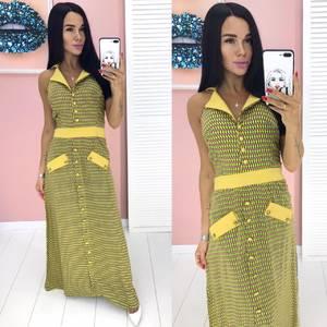 Платье длинное летнее А00290