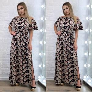 Платье длинное летнее А34433