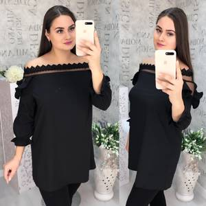 Блуза с кружевом Ч1069