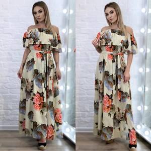 Платье длинное летнее А34434