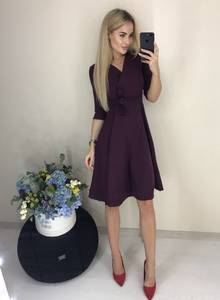 Платье короткое классическое Ш6809