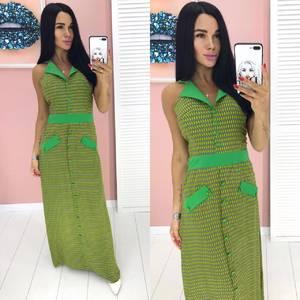 Платье длинное летнее А00289