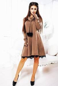 Платье короткое с длинным рукавом А23090