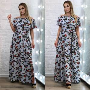 Платье длинное летнее А34436