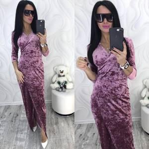 Платье длинное с разрезом на ноге нарядное Ф8736