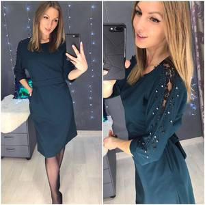 Платье короткое нарядное Я2046