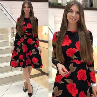 Платье короткое нарядное Ю0288