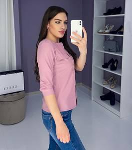 Блузка с длинным рукавом розовая Ш9167
