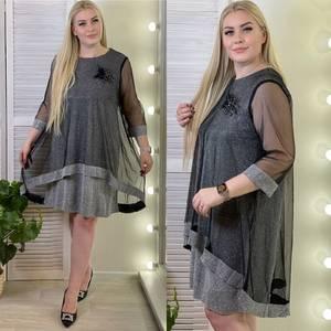 Платье короткое нарядное А59127