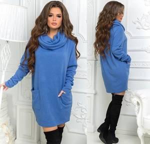 Платье короткое однотонное А52024