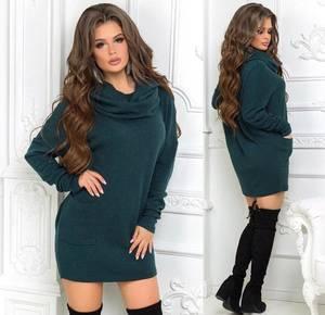 Платье короткое однотонное А52027