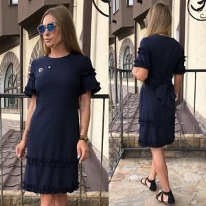 Платье короткое нарядное однотонное Т7997