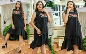 Платье короткое с принтом летнее Т8345