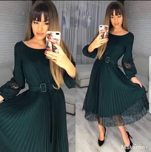 Платье коктейльное нарядное с длинным рукавом современное Ш9132