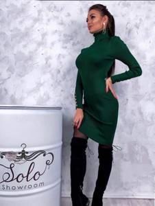 Платье короткое однотонное А48443