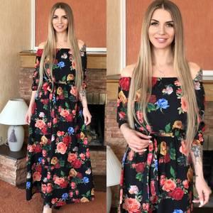 Платье длинное нарядное Я0111