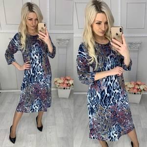 Платье короткое с принтом Х4258