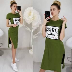 Платье с принтом короткое Ц3134
