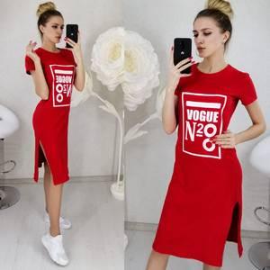 Платье короткое с принтом Ц3135