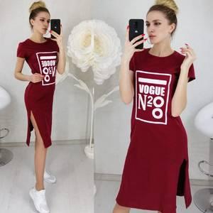 Платье короткое с принтом Ц3136