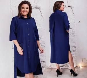 Платье короткое однотонное Я3554