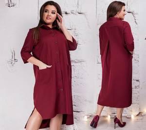 Платье короткое однотонное Я3555