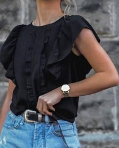 Блуза с коротким рукавом Ю9874