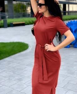 Платье длинное однотонное Я6997
