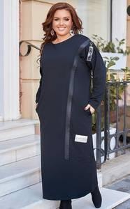 Платье длинное с длинным рукавом А03663