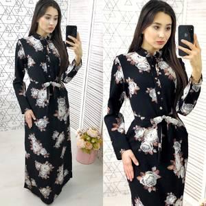 Платье длинное с принтом нарядное Х9587