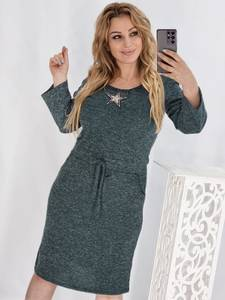 Платье короткое с длинным рукавом А54220