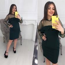 Платье темно-зеленое Ц2595