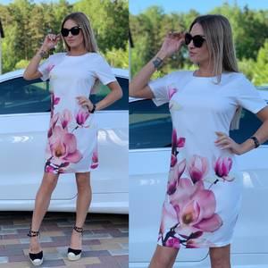 Платье короткое с принтом Ц7247