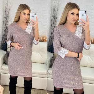 Платье короткое нарядное с рукавом 3/4 Ф8914