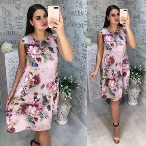 Платье короткое с принтом Ц2977