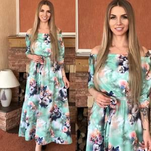 Платье длинное нарядное Я0113