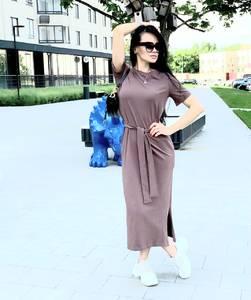 Платье длинное однотонное Я6998