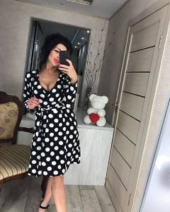 Платье короткое с длинным рукавом современное Ц2412