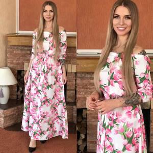 Платье длинное нарядное Я0114