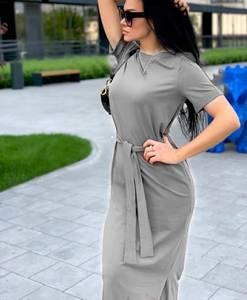 Платье длинное однотонное Я6999