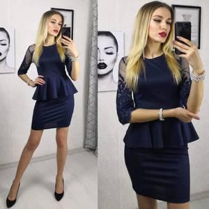 Платье короткое нарядное элегантное Ф9478